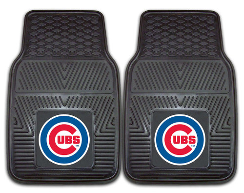 Chicago Cubs Heavy Duty 2-Piece Vinyl Car Mats