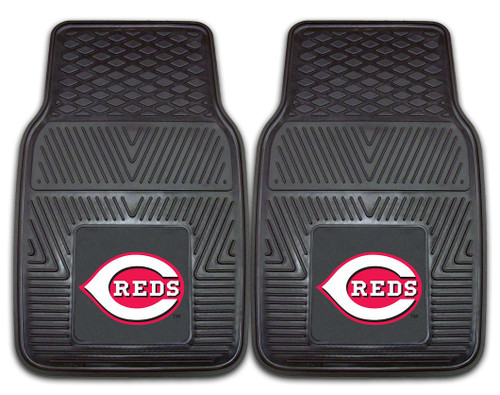 Cincinnati Reds Heavy Duty 2-Piece Vinyl Car Mats