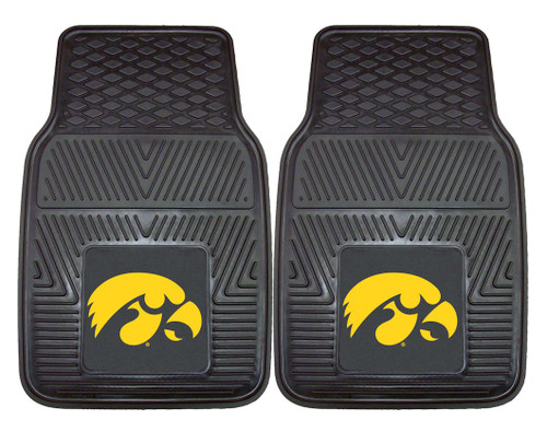 Iowa Hawkeyes Heavy Duty 2-Piece Vinyl Car Mats