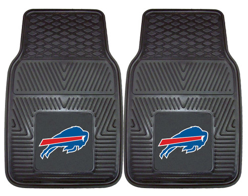 Buffalo Bills Car Mats Heavy Duty 2 Piece Vinyl