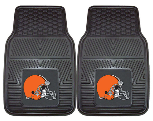 Cleveland Browns Car Mats Heavy Duty 2 Piece Vinyl