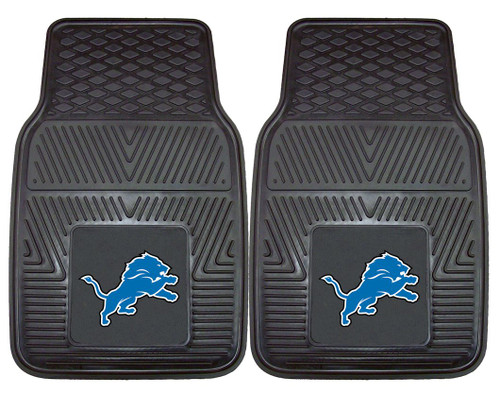 Detroit Lions Car Mats Heavy Duty 2 Piece Vinyl