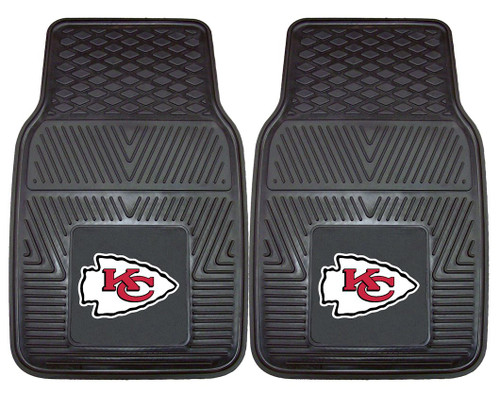 Kansas City Chiefs Car Mats Heavy Duty 2 Piece Vinyl