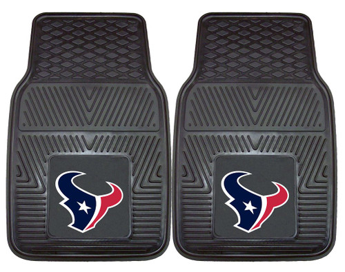 Houston Texans Car Mats Heavy Duty 2 Piece Vinyl