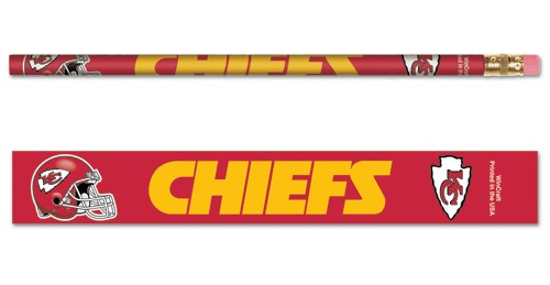 Kansas City Chiefs Pencil 6 Pack