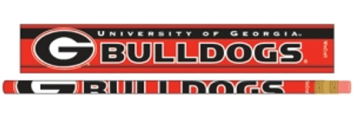 Georgia Bulldogs Pencil 6 Pack