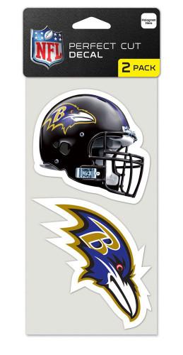 Baltimore Ravens Set of 2 Die Cut Decals