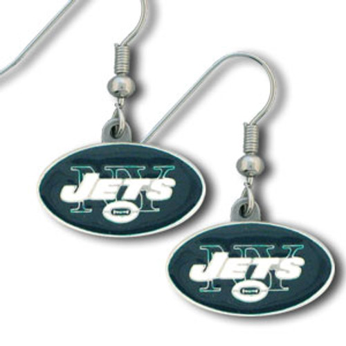New York Jets Dangle Earrings