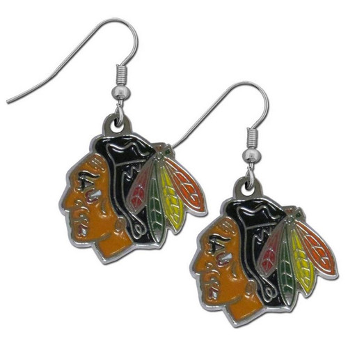 Chicago Blackhawks Dangle Earrings