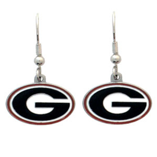Georgia Bulldogs Dangle Earrings