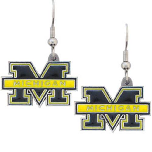 Michigan Wolverines Dangle Earrings