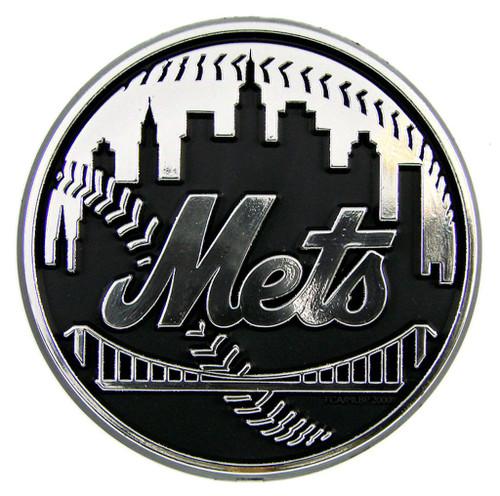 New York Mets Auto Emblem - Silver