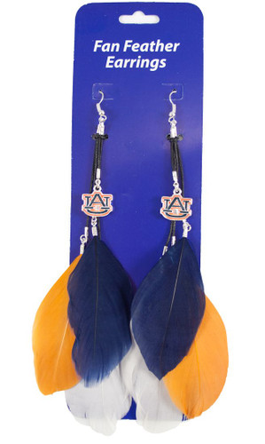Auburn Tigers Team Color Feather Earrings