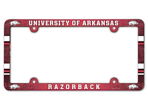 Arkansas Razorbacks License Plate Frame - Full Color
