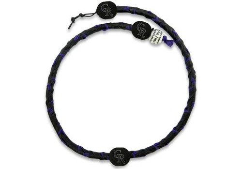 Colorado Rockies Frozen Rope Team Color Necklace