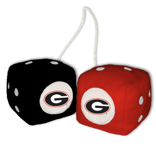 Georgia Bulldogs Fuzzy Dice