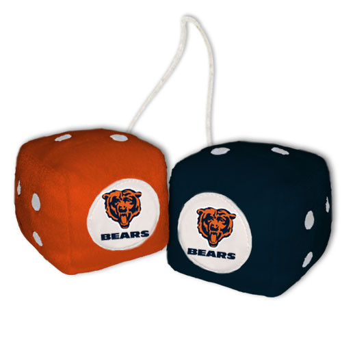 Chicago Bears Fuzzy Dice
