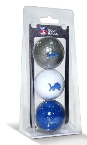 Detroit Lions 3 Pack of Golf Balls