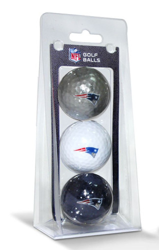 New England Patriots 3 Pack of Golf Balls