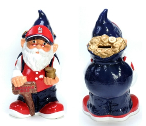 St. Louis Cardinals Garden Gnome - Coin Bank