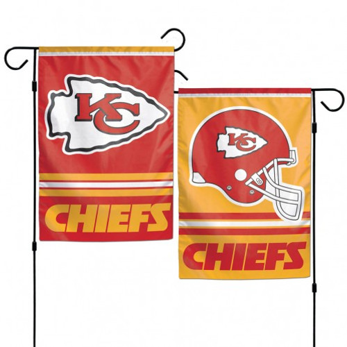 Kansas City Chiefs Flag 12x18 Garden Style 2 Sided