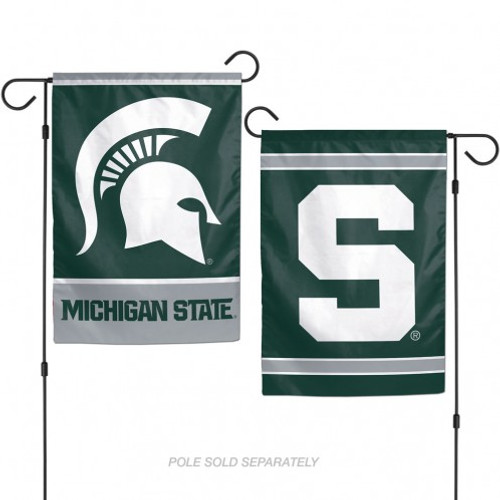 Michigan State Spartans Flag 12x18 Garden Style 2 Sided