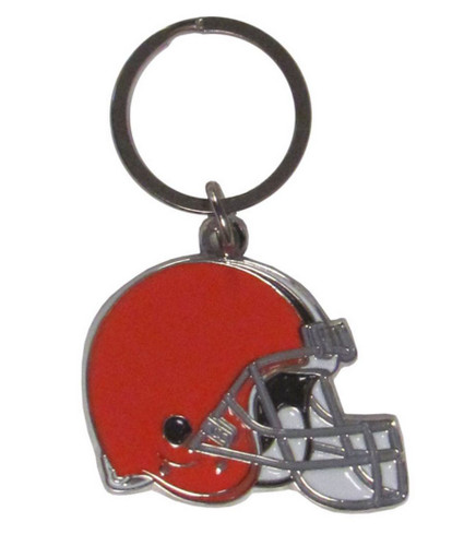 Cleveland Browns Chrome Logo Cut Keychain