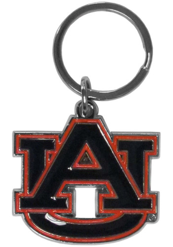 Auburn Tigers Chrome Logo Cut Keychain