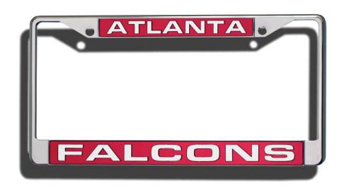 Atlanta Falcons License Plate Frame Laser Cut Chrome