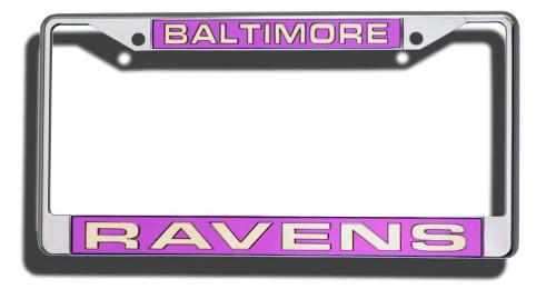 Baltimore Ravens Laser Cut Chrome License Plate Frame