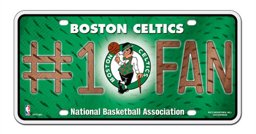 Boston Celtics License Plate #1 Fan