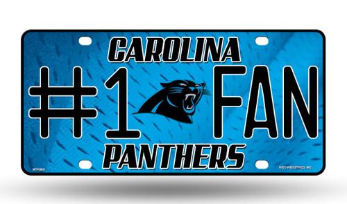 Carolina Panthers License Plate - #1 Fan