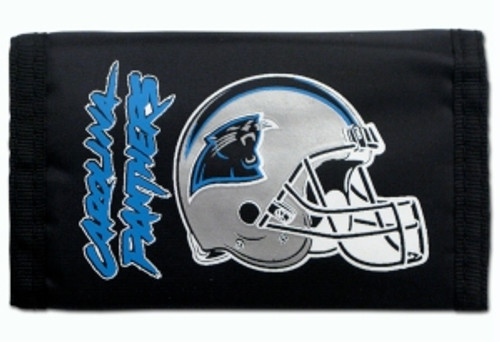 Carolina Panthers Nylon Trifold Wallet