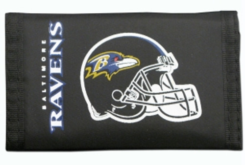 Baltimore Ravens Nylon Trifold Wallet