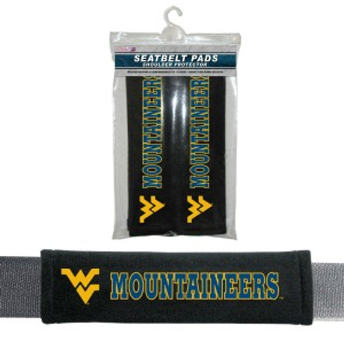West Virginia Mountaineers Seat Belt Pads Velour