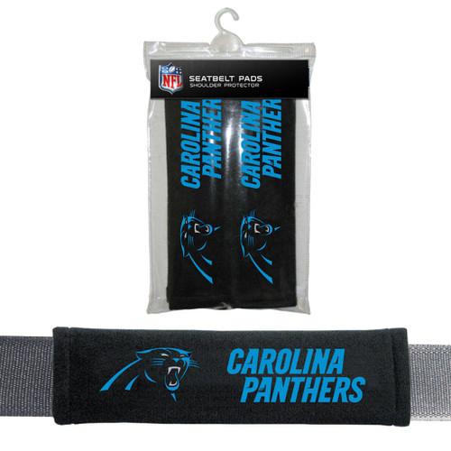 Carolina Panthers Seat Belt Pads Velour