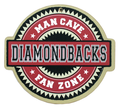 Arizona Diamondbacks Man Cave Fan Zone Wood Sign