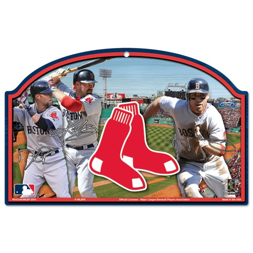 Boston Red Sox Wood Sign - Players Design
