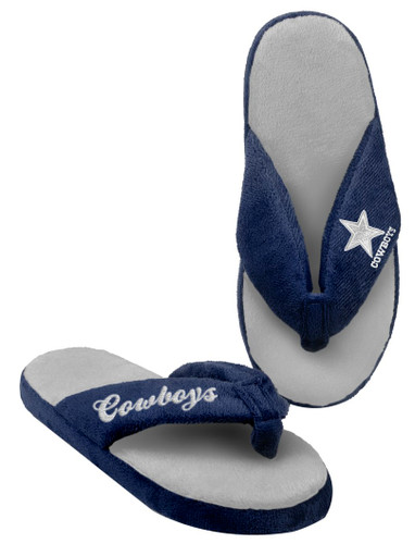 Dallas Cowboys Slippers - Womens Thong Flip Flop (12 pc case)