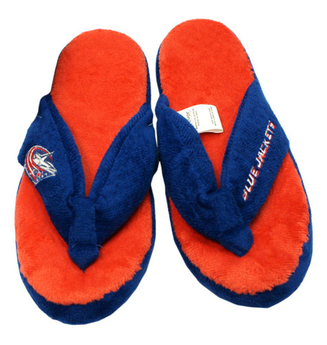 Columbus Blue Jackets Slippers - Womens Thong Flip Flop (12 pc case)