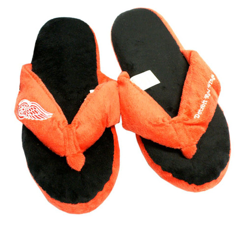 Detroit Red Wings Slippers - Womens Thong Flip Flop (12 pc case)