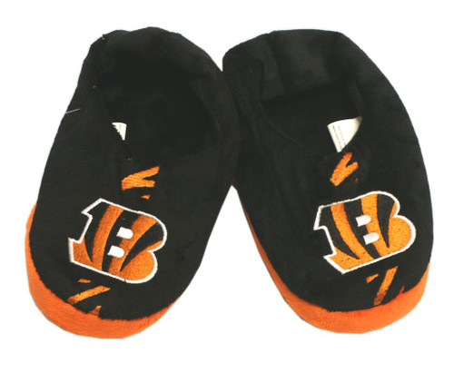 Cincinnati Bengals Slippers - Youth 4-7 Stripe