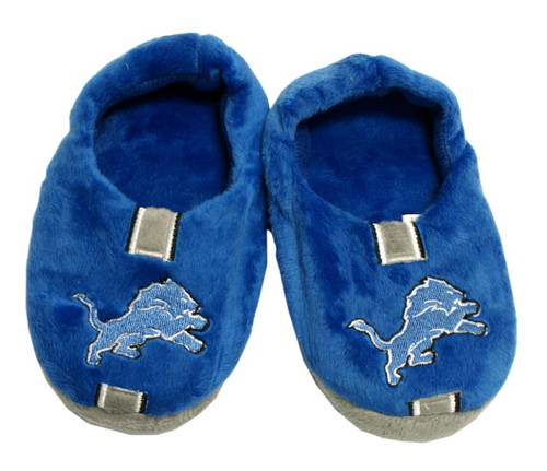 Detroit Lions Slippers - Youth 4-7 Stripe