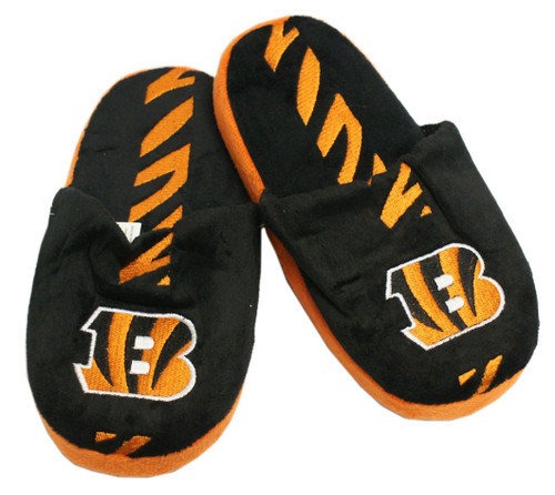 Cincinnati Bengals Slippers - Youth 8-16 Stripe