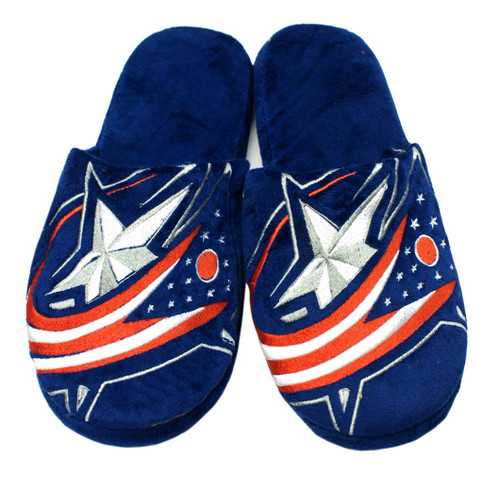 Columbus Blue Jackets Slippers - Mens Big Logo