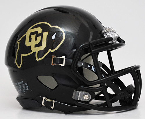 Colorado Buffaloes Speed Mini Helmet - Black Alternate