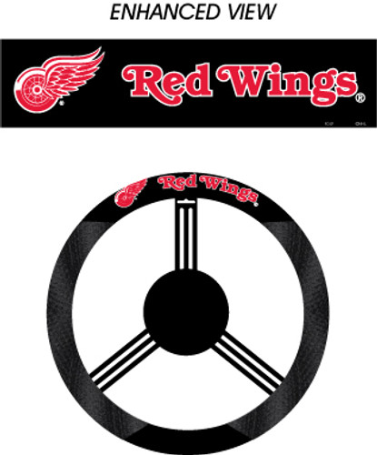 Detroit Red Wings Steering Wheel Cover - Mesh