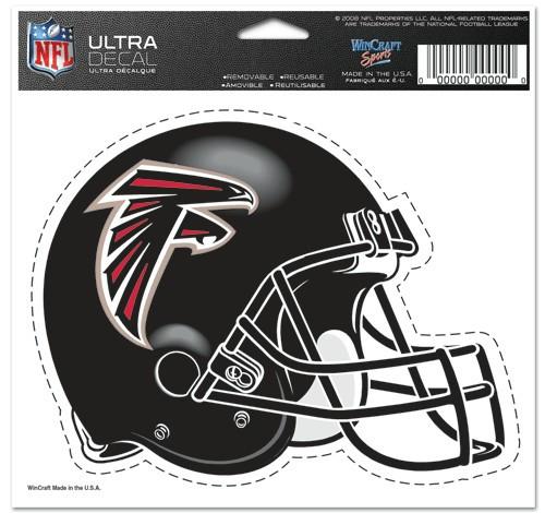 Atlanta Falcons Decal 5x6 Ultra Color Helmet