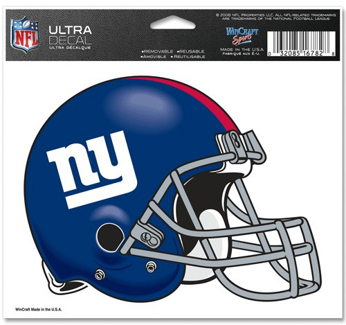 New York Giants Decal 5x6 Ultra Color