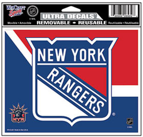 New York Rangers Decal 5x6 Ultra Color